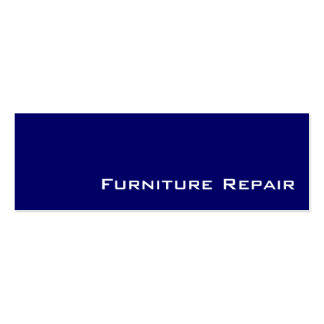 Navy white Furniture Repair business cards