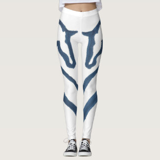 Navy & White Horse Design Leggings