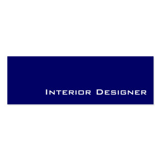 Navy white Interior Designer business cards