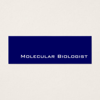 Navy white Molecular Biologist business cards