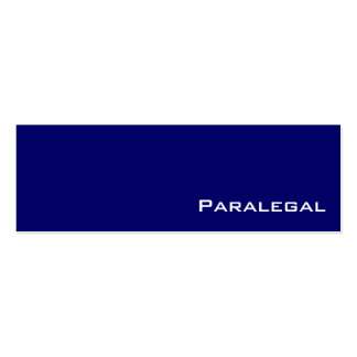 Navy white paralegal business cards