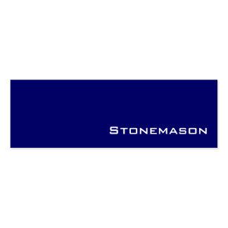 Navy white Stonemason business cards