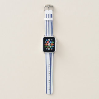 Navy & White Stripe Pattern Apple Watch Band