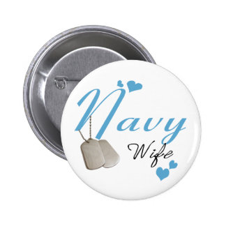 Navy Wife Button