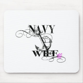 navy wife mousepad