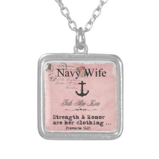 Navy wife necklace
