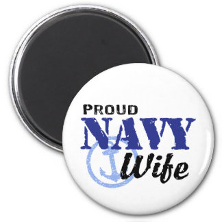 Navy Wife Refrigerator Magnet