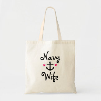"""""""Navy Wife"""" Tote Bag"""