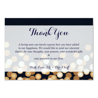 Navy with Gold Dots Thank you Card