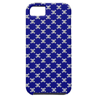 Navy with White Skull and Crossbones Polka Dot iPhone 5 Cover