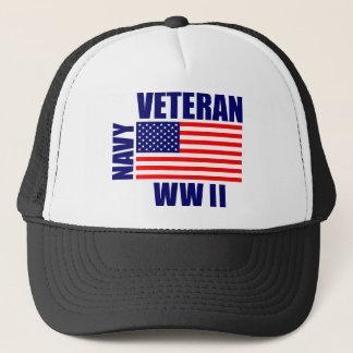 NAVY WW II Veteran Trucker Hat