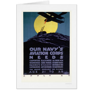 Navy's Aviation Corps Needs Help (US02301) Greeting Card