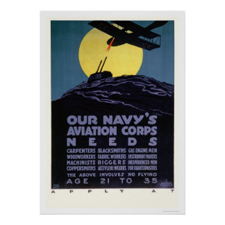 Navy's Aviation Corps Needs Help (US02301) Poster