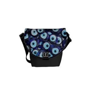 Nazar Amulets Evil Eye Stones Blue Pattern Commuter Bag