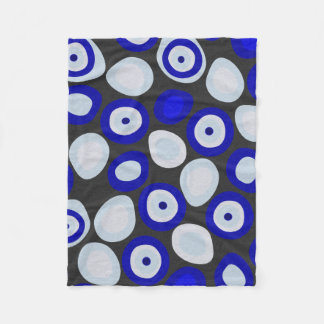 Nazar Evil Eye Fleece Blanket