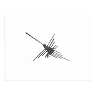 Nazca Lines Hummingbird Newsprint Postcard