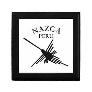 Nazca Peru Hummingbird With Curved Text Gift Box