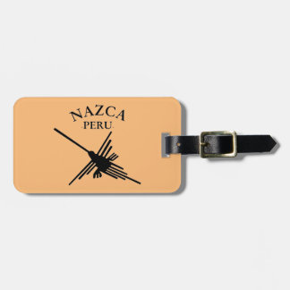 Nazca Peru Hummingbird With Curved Text Luggage Tag