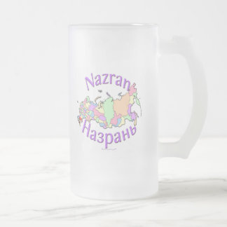 Nazran Russia Frosted Glass Beer Mug