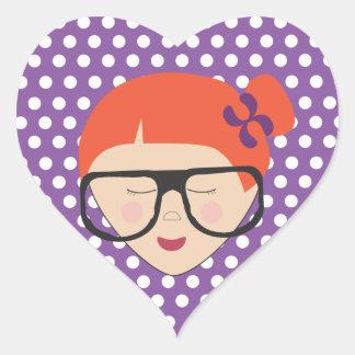 nc 0512 Girl Heart Sticker