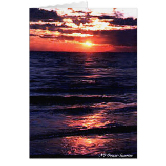 NC Coast Sunrise Card
