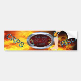 NC CRPS RSD Association Logo Oval Silver Ring Bumper Sticker