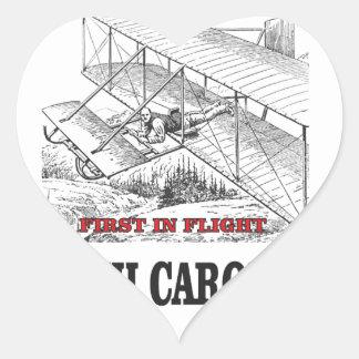 NC first in flight Heart Sticker