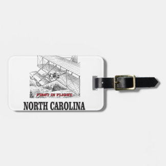 NC first in flight Luggage Tag