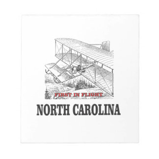 NC first in flight Notepad