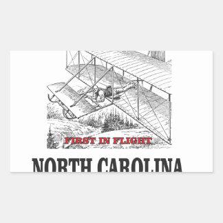 NC first in flight Rectangular Sticker