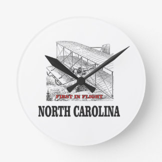 NC first in flight Round Clock