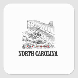 NC first in flight Square Sticker