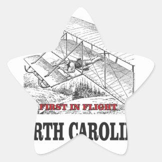 NC first in flight Star Sticker