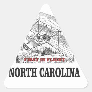 NC first in flight Triangle Sticker
