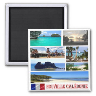 NC - New Caledonia - mosaic collage Square Magnet
