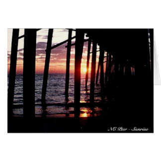 NC Pier - Sunrise Card