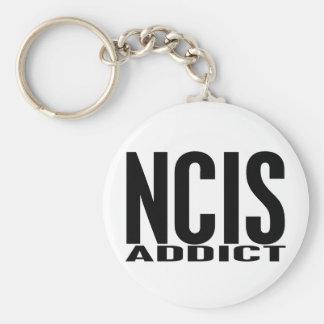 NCIS Addict Basic Round Button Key Ring