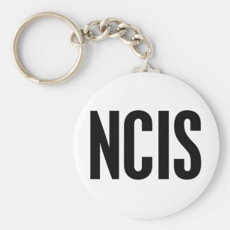 NCIS BASIC ROUND BUTTON KEY RING