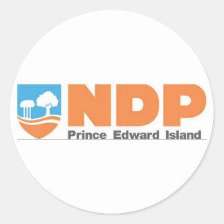 NDP Prince Edward Island Logo Round Sticker