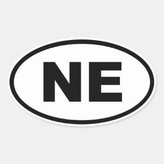 NE Nebraska Oval Sticker