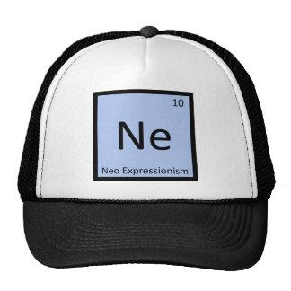 Ne - Neo Expressionism Art Chemistry Symbol Mesh Hats