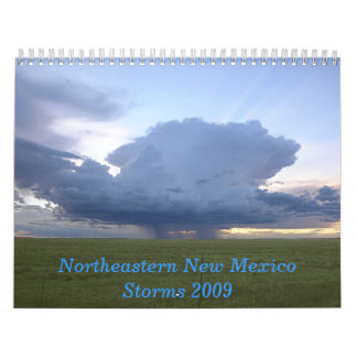 NE New Mexico Storms 2009 Calendar
