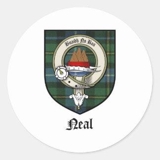 Neal Clan Crest Badge Tartan Classic Round Sticker