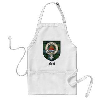 Neal Clan Crest Badge Tartan Standard Apron