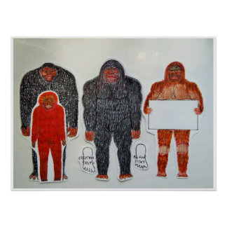 Neanderthal & 3 friends, poster