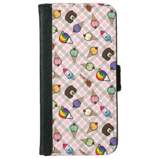 Neapolitan Gingham Frosty Treats Phone Wallet Case iPhone 6 Wallet Case