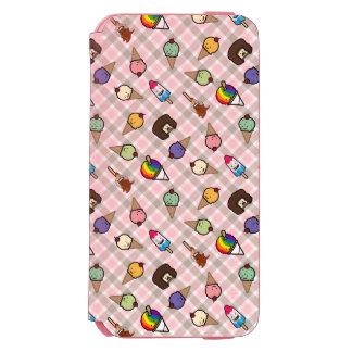 Neapolitan Gingham Frosty Treats Pink Wallet Case Incipio Watson™ iPhone 6 Wallet Case