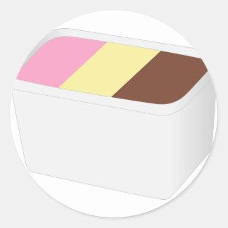 Neapolitan Ice Cream Classic Round Sticker