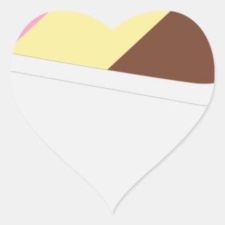 Neapolitan Ice Cream Heart Sticker