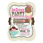 Neapolitan Ice Cream Kid's Birthday Party Card